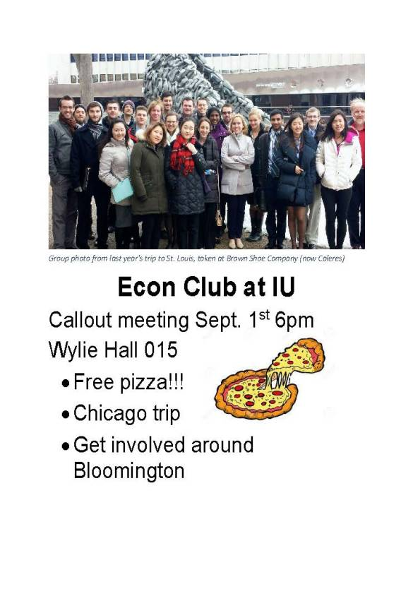 Econ Club at IU Callout Flyer