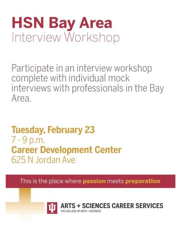HSN Bay Area Interview Workshop SINGLE